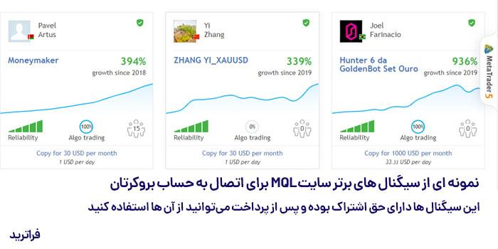 کسب درآمد از اتصال حساب به سیگنال های سایت Signal MQL